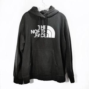 The North Face Black Graphic Hoodie Sweatshirt L